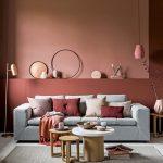 Salon : mur rose