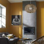 Salon : mur jaune