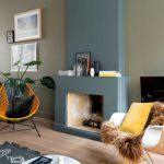 Salon : mur vert pale