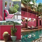 peindre-mur-exterieur-déco-rose-bonbon-gris-piscine-terrace-1