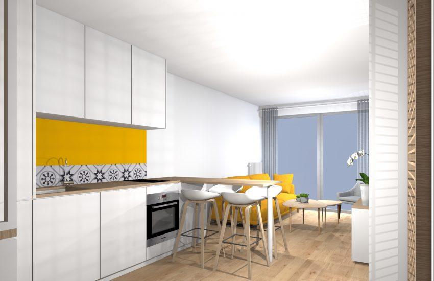 Visuel 3d Cuisine Ouverte Architecte D Interieur Decoratrice